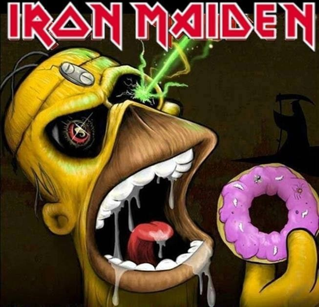 Homer Simpson as Eddie From Iron Maiden