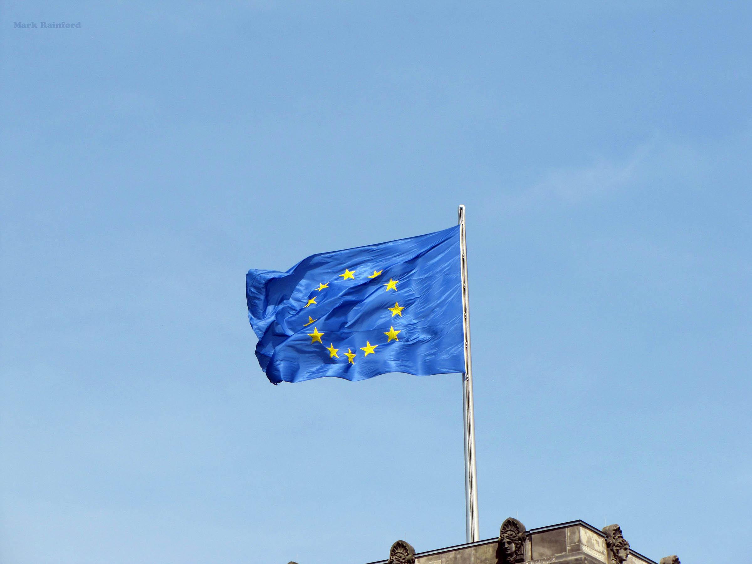 Berlin Germany EU Flag