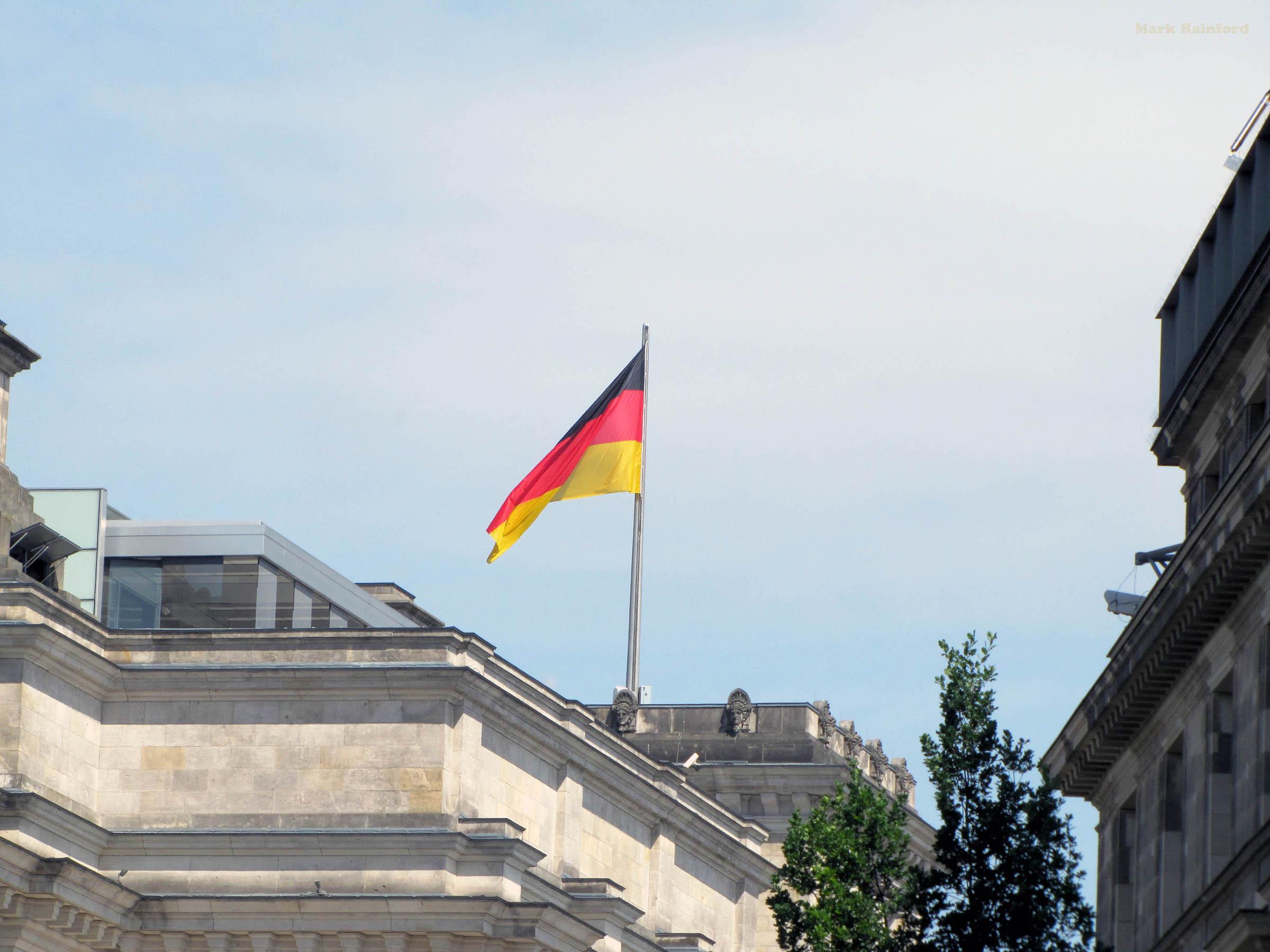 Berlin Germany German Flag