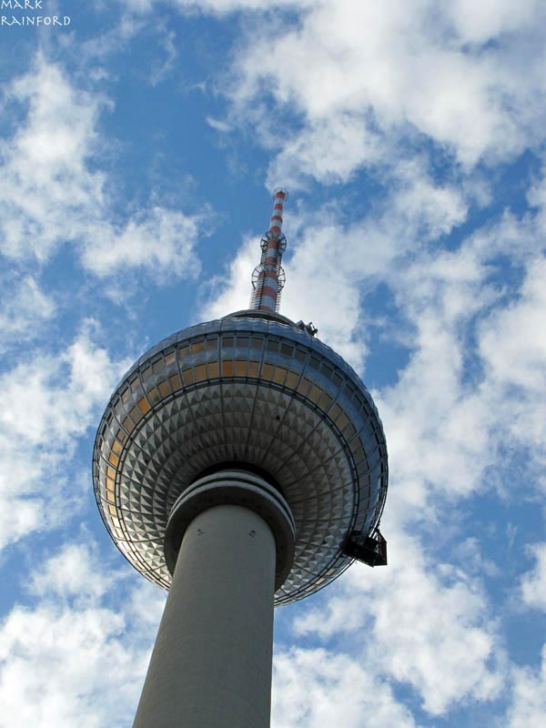 Looking up at the Fernsehturm (TV Tower) Berlin