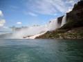 Ontario, Canada.  Niagara Falls The American Falls and Bridal Veil Falls