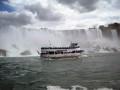 Ontario, Canada.  Niagara Falls The American Falls & The Maid Of The Mist