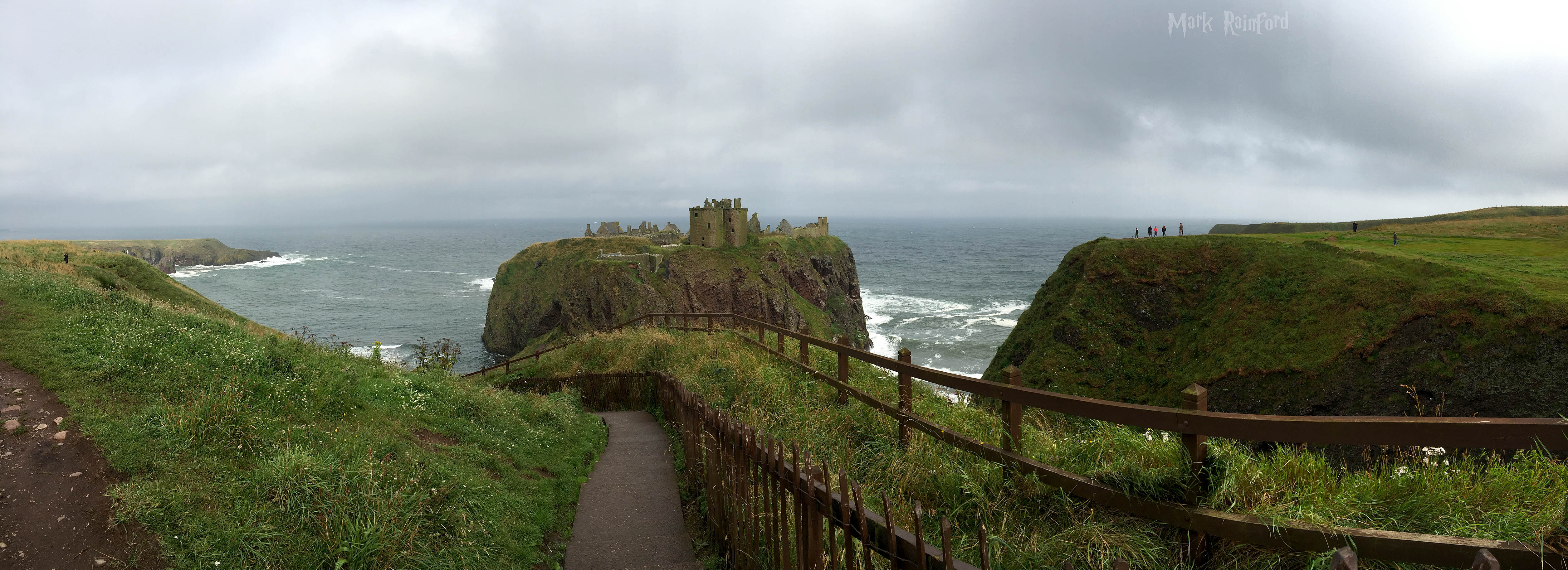 Panoramic shot of Dunnottar Castle