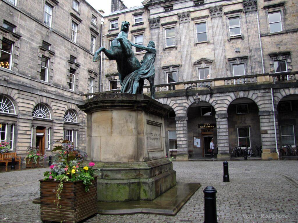 Alexander and Bucephalus Statue